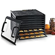 Excalibur 3926TCDB 9-Tray Electric Food Dehydrator with Clear Door Adjustable Temperature Settings and 26-Hour Timer Made in USA, 9-Tray, Black