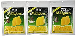 7D Mangoes Naturally Delicious Dried Tree Ripened Dried Mango - Set of 6