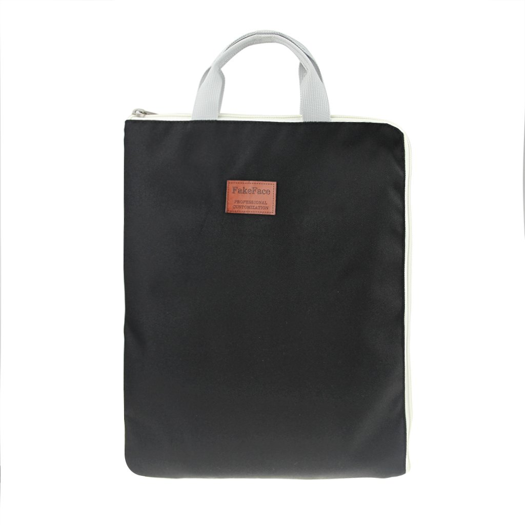 Portable Business Office School Zipper File Bags Organizer Document Holder Tote Handbag for Tablet Laptop 13 inches