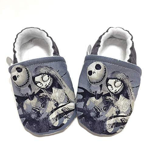 Nightmare Before Christmas Baby Shoes, Christmas Baby Outfit, Gray Baby Booties, Unique Gift for Baby Shower Newborn or Toddler -