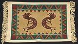 Fine Southwest Design - Dancing Kokopelli - Cotton Placemats 13''x19'' Pack of 6