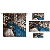 Best Bronze Times Bath Towels - iPrint Bathroom 4 Piece Set Shower Curtain Floor Review
