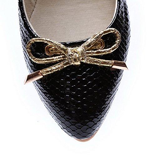 BalaMasa da donna Fish?Scala?Modello Pull-On imitato in pelle pumps-shoes, Nero (Black), 35