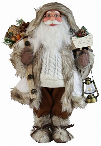 Windy Hill Collection 16″ White Woodland Santa Claus Christmas Figurine Figure Decoration 16720 Review