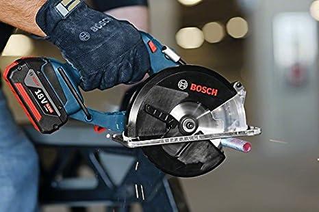 Bosch Professional 06016A4000 GKM LI Metallkreiss/äge Blau 2x4,0 Ah Akku Schwarz L-Boxx 18 V