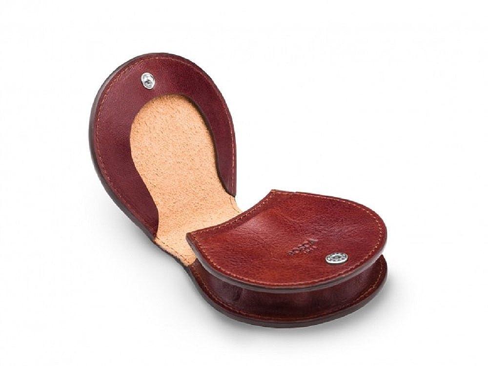 Bosca Vachetta Leather Pocket Coin Case - Brown