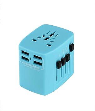 FZHLY - Conmutador Universal de 4 Puertos USB para Enchufe de ...