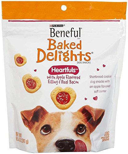 Beneful Baked Delights Heartfuls Apple Flavored Filling And Real Bacon - 8.5 Ounces