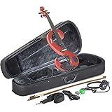 Stagg EVN 4/4 MRD Silent Violin Set with Case
