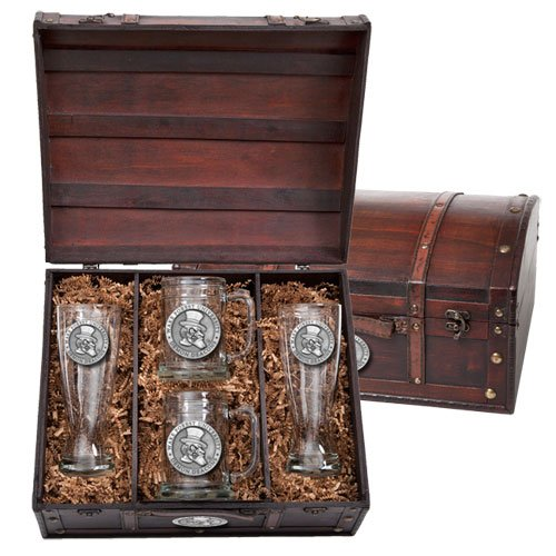 Wake Forest Demon Deacons Beer Chest Set by Heritage Pewter