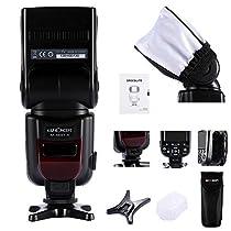 K&F Concept® PRO E-TTL KF-882 Flash Blitz Blitzgerät Master Speedlite Set für Canon EOS 700D 650D 600D 1100D 550D 500D 450D 400D 100D 300D 60D 70D DSLR-Kameras Rebel T3 T5i T4i T3i T2i T1i XSi XTi SL1 Canon EOS M Kompaktkamera