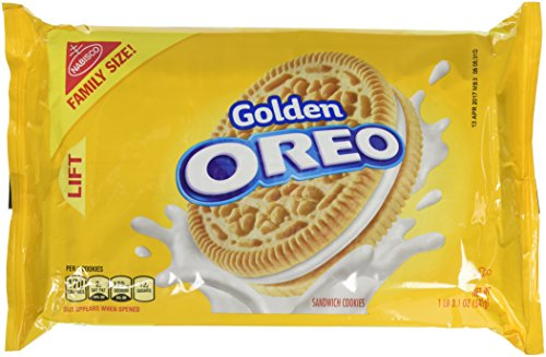 Oreo Golden Sandwich Cookies - Family Size, 19.1 Ounce (Oreo Vanilla Cookies)