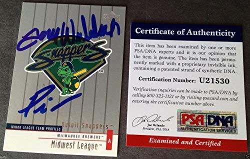 Prince Fielder Tom Wilhelmsen Autographed Signed Memorabilia Beloit Snappers Card Auto PSA/DNA Autograph ()