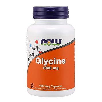 NOW Supplements, Glycine 1000mg, 100 Veg Capsules