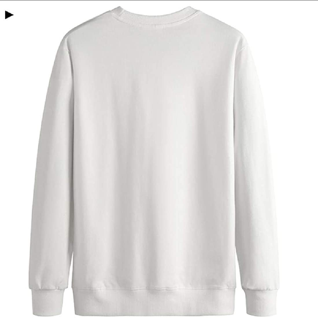 zhaoabao Mens Regular-Fit Solid Color Loose Pullover Long Sleeve Crew Neck Sweatshirt