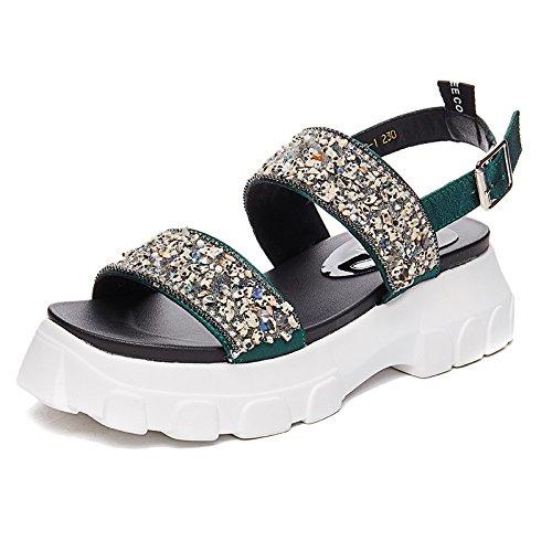 green Retro Casuales Zapatos amp;G Sandalias Suela The Gruesa De NGRDX De De Zapatos Hadas dy6CnOw1q