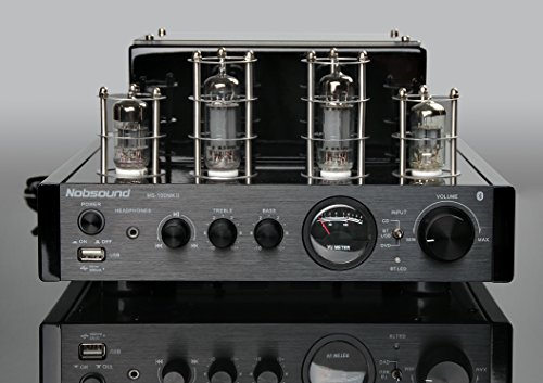 Nobsound MS-10D MKII Hybird Tube Amplifier with Bluetooth/USB/Headphone for Hi-Fi (Black) Nobsound