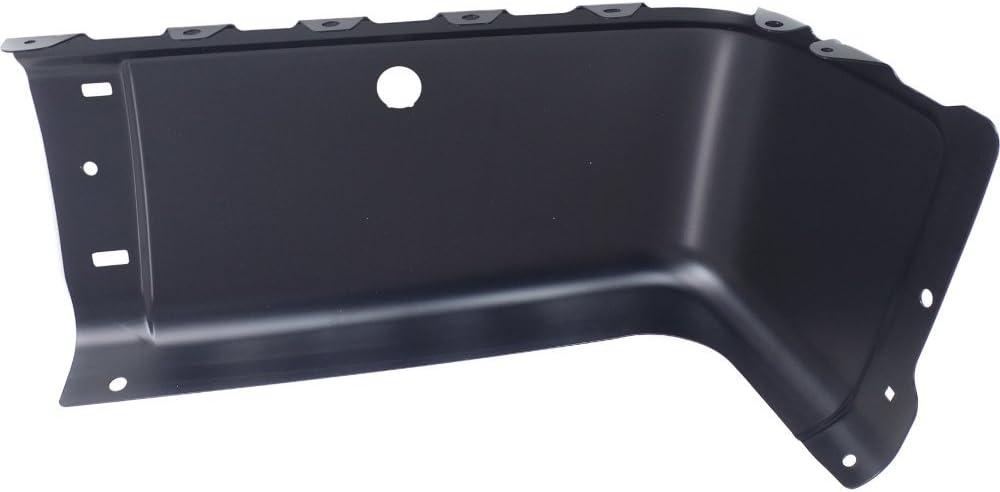 Bumper End for Chevrolet Silverado Sierra 07-14 Rear Black Face Bar W//Sensor Holes Left Side Steel Primed