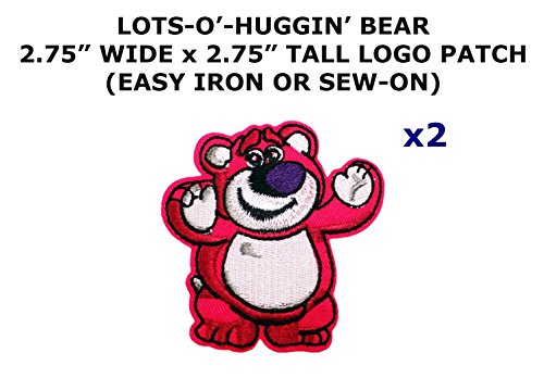 2 PCS Lots-O'-Huggin' Bear Toy Story Cartoon Theme DIY Iron / Sew-on Decorative Applique (Toy Story Alien Costume Diy)