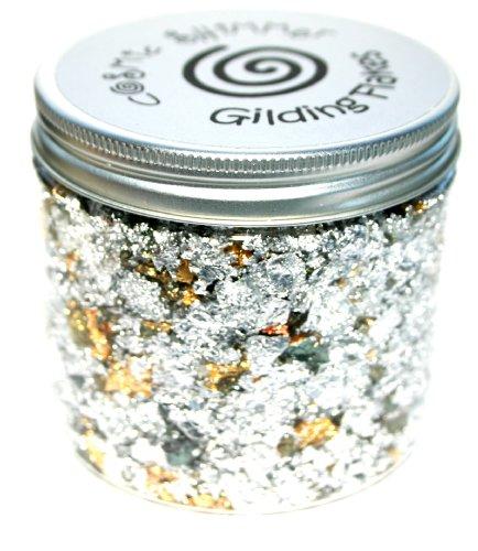 Cosmic Shimmer Gilding Flakes 200ml Pot - Silver (Cargo Spotlight)