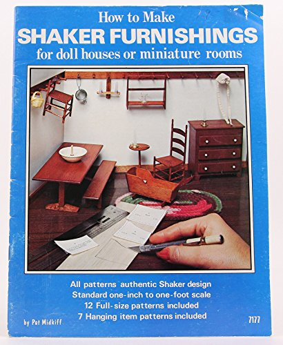 How to make Shaker furnishings for doll houses or miniature rooms