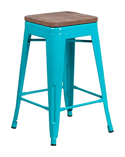 Pleasant Amazon Com Offex 24 High Backless Counter Height Stool Ibusinesslaw Wood Chair Design Ideas Ibusinesslaworg