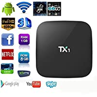 TV Box , Lary intel 2016 TX1 Network Set-Top Amlogic S805 Quad Core TV Box With Xbmc Pre-installed Android 4.4 1G+8G HDMI H.265 WIFI LAN Miracast Airplay TV Box Media Player PK m8s plus
