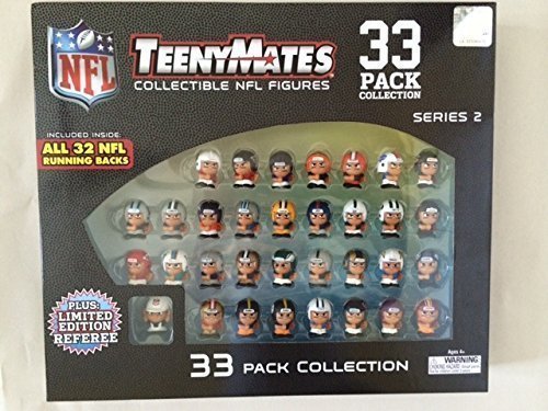 33 Pack Party Animal Teenymates Collectible Series 2 NFL Figures