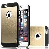 ULAK iPhone 6 plus Case Brushed Chrome Case with Plastic PC Brushed Aluminum Covered for Apple iPhone 6 plus (5.5