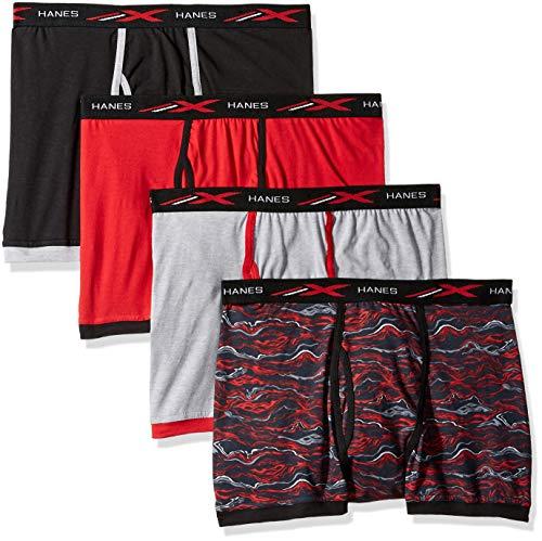 Hanes Men's 4-Pack Active Cool X-Temp Short Leg Boxer Brief, Assorted, Medium