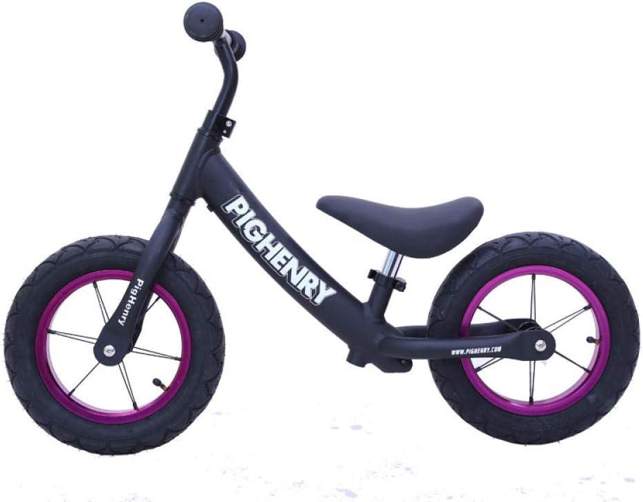 Bicicleta de Equilibrio Los ninos Impulsor Aire Cochecito para niños con balancín para niños sin Bicicleta de Pedales 2-3-6 años tobogán de Aluminio para bebés Negro: Amazon.es: Deportes y aire libre
