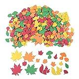 500PCS Thanksgiving Decorations Leaf Foam