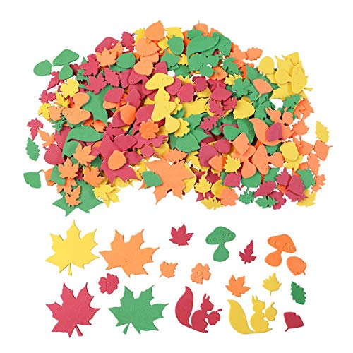 Cheapest Prices! 500PCS Thanksgiving Foam Stickers, Variety Packs 3D Fall Leaf Stickers Decoration f...