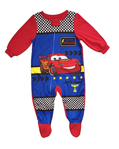 AME Disney Cars Baby Boys Footed Blanket Sleeper Pajama (Red, 18 Months)