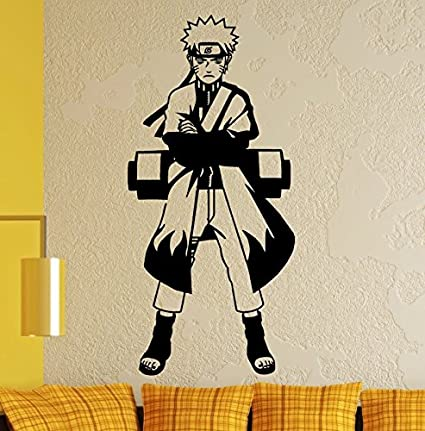 Streetwall WandTattoo Naruto – Naruto Uzumaki, Vinilo, Negro, XL ...