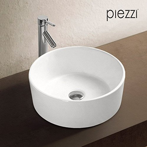 Vasque ronde 40 cm en cé ramique blanche - Corya Piezzi