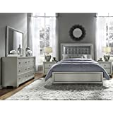 Pulaski 5 Piece Celestial Bedroom Suite  California King Amazon com Silver Sets Furniture Home Kitchen