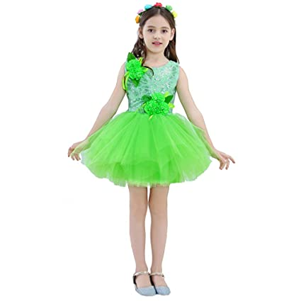 8e4a19b7550a YONGMEI Dance Costume - Children s Costumes Small Grass Children s  Performance Costume Jasmine Open Dance Dress Chunxiao