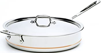 All-Clad 6406 SS Copper Core 5-Ply Bonded Dishwasher Safe Saute Pan