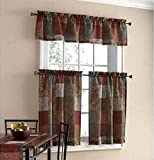 Tuscany Kitchen Window Curtain Set 3 Pc For Sale