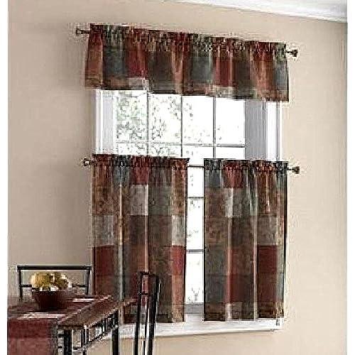 Tuscany Kitchen Window Curtain Set 3 Pc