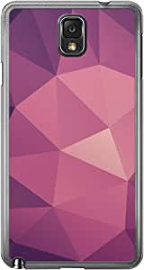 Loud Universe Samsung Galaxy Note 3 Geometrical Printing Files A Geo 10 Printed Transparent Edge Case - Purple