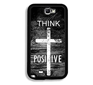 Shawnex Springink Hipster Quote Think Positive Grunge Cross Thinshell Case Protective Note 2 Case