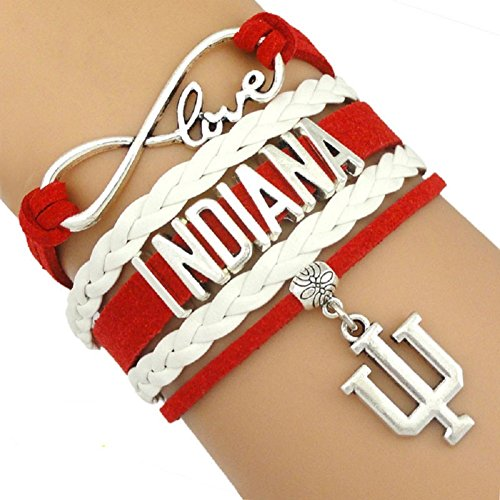 Indiana University Hoosiers Multi Strand Leather Like Team Charm Bracelet by Got To Have This