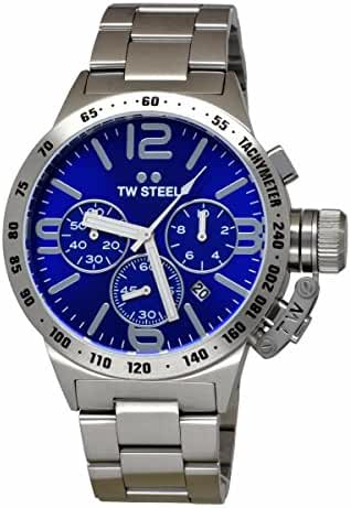 TW Steel CB13 Men's Canteen Stainless Steel Silver Bracelet Band Blue Dial Watch by TW Steel