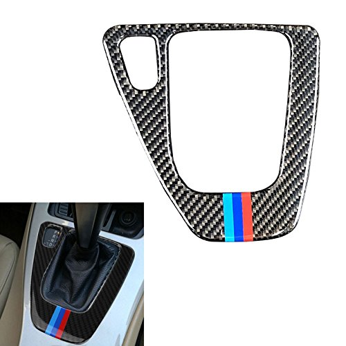 Arotom Carbon Fiber Gear Shift Control Panel Sticker Mix-Color for 3 Series BMW E90 E92 (Mix Color)