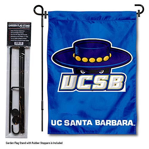 College Flags and Banners Co. UC Santa Barbara Gauchos Garden Flag with Stand Holder ()