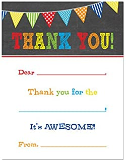 Amazon.com : Fill in the Blank Thank You Cards, Kids Birthday or ...