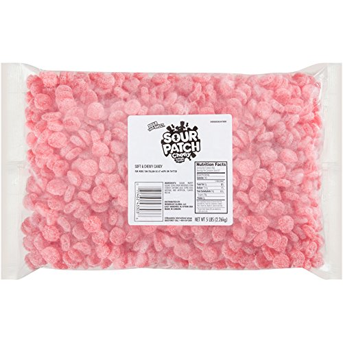 Sweet Candy Cherry (Sour Patch Cherries Sweet and Sour Gummy Cherry Flavored Candy, 5 Pound Bulk Bag)