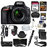 Cheap Nikon D5600 Wi-Fi Digital SLR Camera & 18-140mm VR DX AF-S Lens + 64GB Card + Case + Flash + Battery & Charger + Grip + Tripod + Filters + Remote Kit